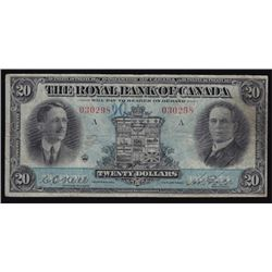 1927 Royal Bank of Canada Twenty Dollars