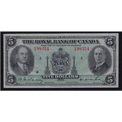 1935 Royal Bank of Canada Five Dollars