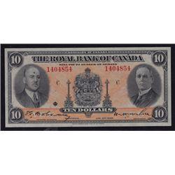 1935 Royal Bank of Canada Ten Dollars