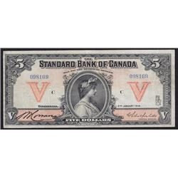 1914 Standard Bank of Canada Five Dollars