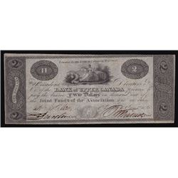 1820 Bank of Upper Canada Two Dollars