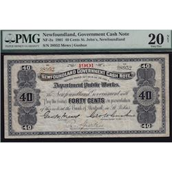 1901 Government 40 Cent Cash Note