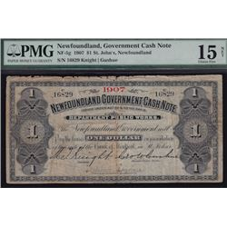 1907 Government One Dollar Cash Note