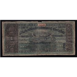 1913-14 Government of Newfoundland One Dollar Cash Note