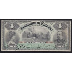 1900 Dominion of Canada Four Dollars