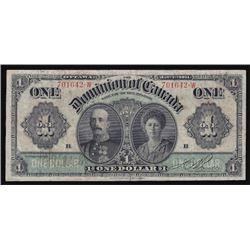 1911 Dominion of Canada One Dollar