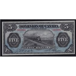1912 Dominion of Canada Five Dollars