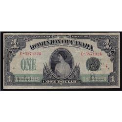 1917 Dominion of Canada One Dollar