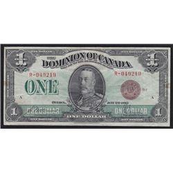 1923 Dominion of Canada One Dollar