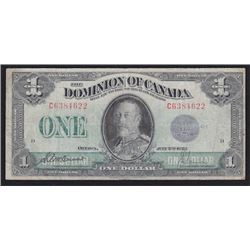 1923 Dominion of Canada One Dollar Test Note