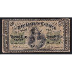 Paper Money Error - 1870 Dominion of Canada Twenty Five Cents