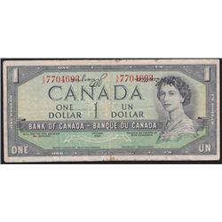 Paper Money Error - 1954 Bank of Canada One Dollar