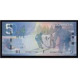 Paper Money Error - 2006 Bank of Canada Five Dollars Double Denomination Error