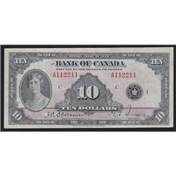 Special Serial Numbers - 1935 Bank of Canada Ten Dollars