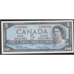 Special Serial Numbers - 1954 Bank of Canada Five Dollars
