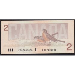 Special Serial Numbers - 1986 Bank of Canada Two Dollars