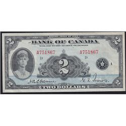 1935 Bank of Canada Two Dollars