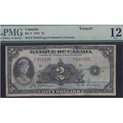 1935 Bank of Canada Two Dollars - French
