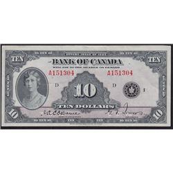 1935 Bank of Canada Ten Dollars