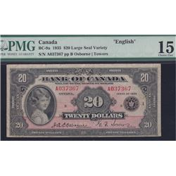 1935 Bank of Canada Twenty Dollars Large Seal