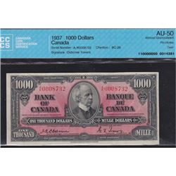 1937 Bank of Canada One Thousand Dollars