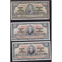 Lot of 1937 Bank of Canada Bank Notes