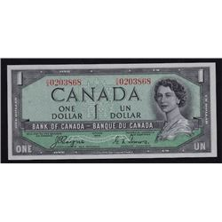 1954 Bank of Canada One Dollar Devil's Face