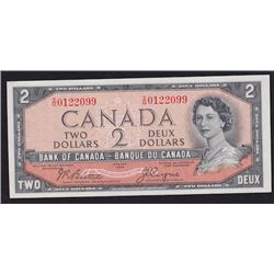 1954 Bank of Canada Two Dollars Devil's Face
