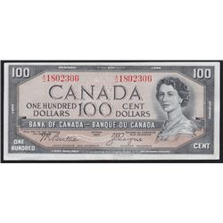 1954 Bank of Canada One Hundred Dollars Devil's Face