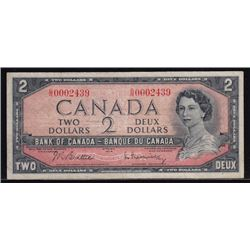 1954 Bankof Canada Two Dollars Test Note