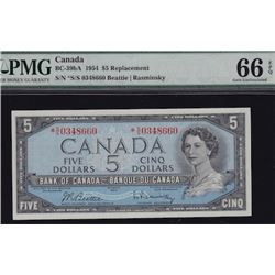 1954 Bank of Canada Five Dollars Replacement