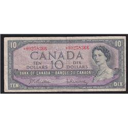 1954 Bank of Canada Ten Dollars Replacement