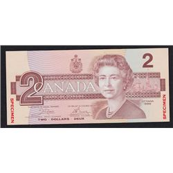 1986 Bank of Canada Two Dollars Specimen