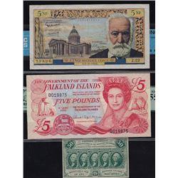 World Banknotes - Lot of Three World Bank Notes