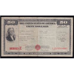 United States of America Fifty Dollars Savings Bond