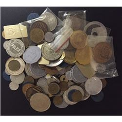 Lot of 118 Pieces of Tokens, Medals and stuff