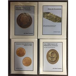 Lot of Four Large Cent Volumes by Rob Turner