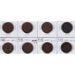 Lot of eight Bouquet Sou tokens