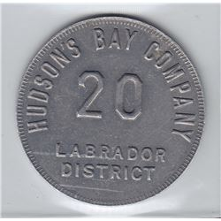 Hudson's Bay Company - Labrador District - 20 Made Beaver