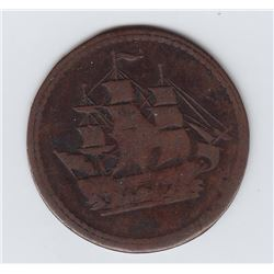 Wood 9c. Lees 3. Ship/Ships Colonies & Commerce. - CH BL-24A3. Copper, thin flan. 6.97 grams. VF