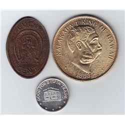Lot of Three Souvenir Tokens