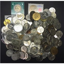 Huge Lot 176 Trade Dollars and Medallions