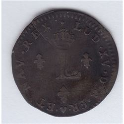 French Double Sol  1762