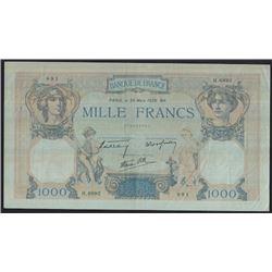 1939 Banque de France Mille Francs