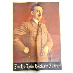 GERMAN NAZI ANTI SEMITIC POSTER ISSUED FOR OCCUPIED TERRITORIES