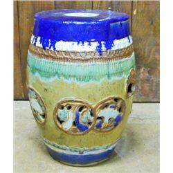 ANTIQUE CHINESE PORCELAIN BLUE GARDEN STOOL - POSS. 1862