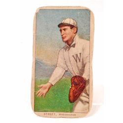 1909-11 T206 PIEDMONT BASEBALL CARD - STREET, WASHINGTON SENATORS