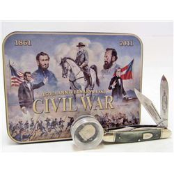 CIVIL WAR CSA ROBERT E LEE ANNIVERSARY POCKET KNIFE