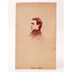 ANTIQUE CDV PHOTO OF EDWIN BOOTH - JOHN WILKES BOOTH BROTHER
