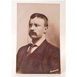 VINTAGE RPPC REAL PHOTO POSTCARD OF PRESIDENT THEODORE ROOSEVELT